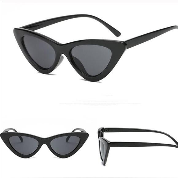 0a4abeac0 Accessories | Jet Black Cat Eye Sunglasses | Poshmark